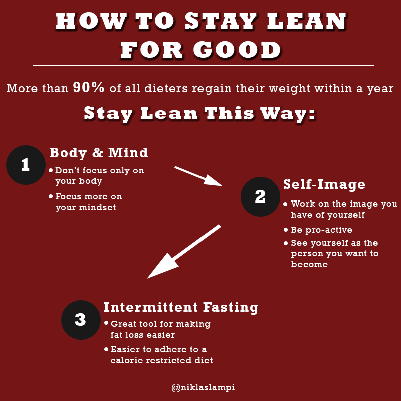 How to stay lean for good infographic