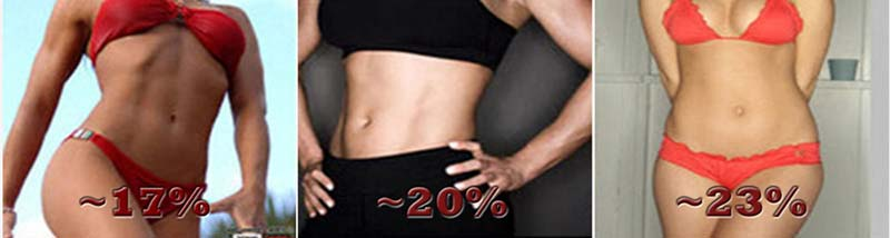 17-23% bodyfat example women