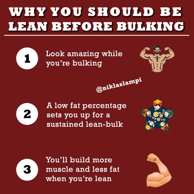 Lean-before-bulking