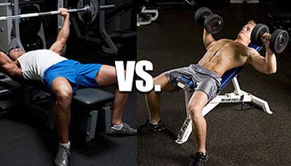 barbell-press-vs-dumbbell-press